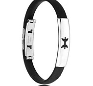 Men's Fashion Personality Titanium Steel Silicone Twelve Constellation Pisces Bracelets
