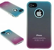 TPU+PC Two in One Blue/Rose Gradient Back Cover Case for iPhone 4/4S