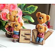 Four Cute Bear love Famiy for Room Decoration Resin Animal Toys