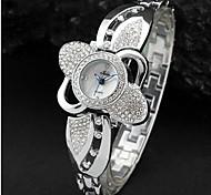 Women's High Quality Crystal Flower Shape Fashion Bracelet Quartz Watch