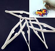 1pcs weißen Kunststoff-Pinzette Werkzeug für Bügelperlen Hama Perlen DIY Puzzle safty für Kinderhandwerk