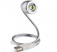 MLSLED® USB Stainless Steel LED Book Light Flexible Reading Lamp for Notebook Laptop PC Computer