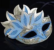 Sky Blue PS Leaves Half Face Venetian Mask