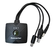 3-en-1 PSX / PS2 a Xbox / PC adaptador convertidor de cable usb / gamecube de mando con cable ps2
