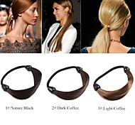 Bohemian Simple Beauty Braid Hair Bands Rope Stretch Rope(3 Colors:1#:Nature Black/2#:Dark Coffee/3#:Light Coffee)