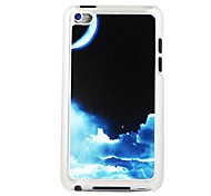 Night Sky Leather Vein Pattern PC Hard Case for iPod touch 4