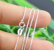Silver Chain Necklaces Sterling Silver Party / Daily / Casual Jewelry