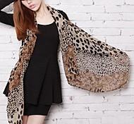 Women's Fashion Leopard Print Pattern Chiffon Scarf