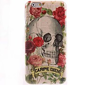 Skull with Feather Design Hard Case for iPhone 6