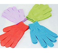 2pcs hidratantes agua de la bañera de hidromasaje fregar guantes exfoliantes baño para la ducha (color al azar)