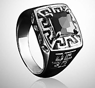 anello degli uomini di lureme®vintage pietra nera (black) (1 pc)