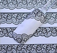 White Lace Nail Stickers