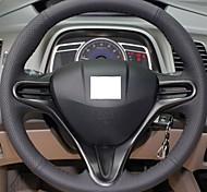 Xuji ™ черный кожаный руль крышка колеса для Honda Civic 2004-2011