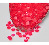 3MM Fashion Nice Jelly Multicolor Acrylic Flatback Faceted Round Sticky Rhinestones Gems(1000 Pcs)