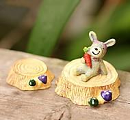 2pcs bonito fezes toco para micro-paisagem decoração resina ornamento brinquedos