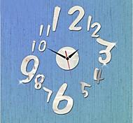 Estilo moderno nova números espelho relógio de parede diy 3d