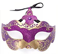 Multicolor Shimmering Powder PS Half Face Masquerade Mask