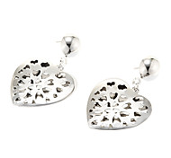 Classic Double Heart Shape Drop Earring(1 Pair)