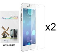 2 x Anti-Glare Matte Screen Protector with Cleaning Cloth for iPhone 6S/6