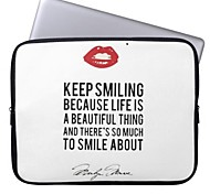 "Elonbo Sexy Lips 15"" Laptop Neoprene Protective Sleeve Case for Macbook Pro Retina Dell HP Acer"