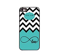 Personalized Gift Sea Wave and Love Design Metal Case for iPhone 5/5S