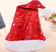 Unisex Adult's Thick Short Plush Christmas Hats Santa Hats
