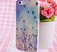 Free Birds Pattern Nice Feeling Embossment Back Case for iPhone 5/5S