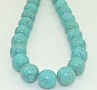 Toonykelly®14MM Natural Green Round Turquoise DIY Beads 10Pc/Bag