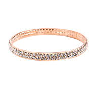 Fashion Double Rows Crystal Set Bangles