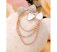 Fashion Tassel Bowknot Gold Plated Brooch for Women In Jewelry