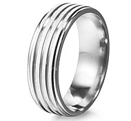 Fashion Unisex Silver Stainless Steel Band Ring(1 Pc)