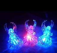 LED Color Change Transparent Angel Shaped Mini Light Halloween Props
