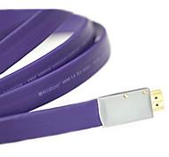 2m 6.56 pies HDMI 1.4 macho a la ayuda de cable masculina 3d 1080p del envío libre