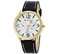 Men's Casual Style Plane Pointer Leather Band Quartz Wrist Watch (Assorted Colors)