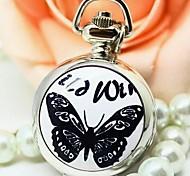 Mode kleinen schwarzen Schmetterling Emaille Quarzwerk Halskette Uhr Frauen