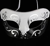 Back-to-ancient Jazz Black and White PS Half Face Halloween Party Mask