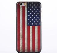 americano hard case bandeira relevo padrão pc para o iphone 6