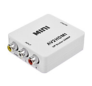 AV Female to HDMI Female Converter RCA to HDMI 1080P Converter for TV, VHS VCR, DVD Records