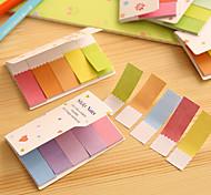 dobles caras color del arco iris gradiente scrapbooking notas autoadhesivas