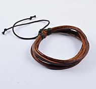 Fashion Men's Multi-turn Leather Bracelets