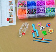 1000pc Rainbow Colorful Loom Style  Bands (25 S Clips ,1Hook and More)