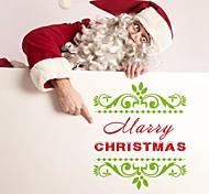 zooyoo® bonito pvc imagem beleza natal removível colorida de adesivos de parede adesivos de parede de venda quente para a decoração da