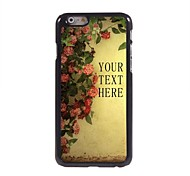 Personalized Gift Flower Design Metal Case for iPhone 6 Plus