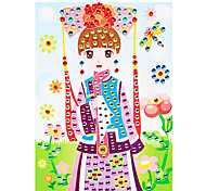 EVA Mosaic Crystal 3D Stickers Children Hand DIY Puzzle Princess Toy