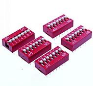 DIY 7-Position 14pin 2,54 mm Dip-Schalter (5-Stück-Packung)
