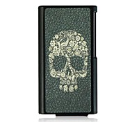 Flower Skull Leather Vein Pattern Hard Case for iPod Nano7