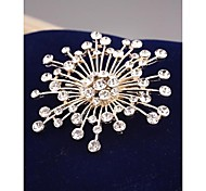 Fashion Flower Imitation Diamond Gold Plated Brooch for Women In Jewelry