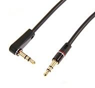 dc 3.5mm male a codear cable macho (balck + rojo) 1m