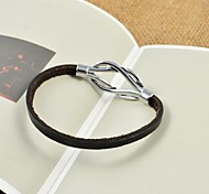 Fashion Unisex's Thin PU Leather Bracelets