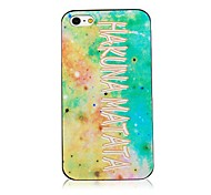 Hakuna Matata Pattern Black Frame Back Case for iPhone 4/4S